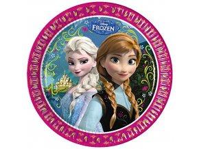 Party talíře 8 ks - Frozen - Elsa a Anna