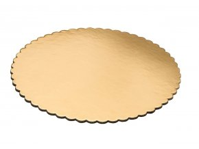 10quot inch Heavy Duty Gold Round Cake Board with Plasticized Finish for Cakes Decorations Lightweight and Study Corrugated Boards Elegant Baking Supplies Grease Resistant amp BPA Free (Pack of 10) B01N4GEIY2
