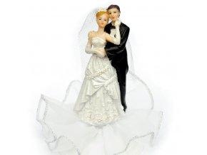 Svatební figurka na podstavci - 8115