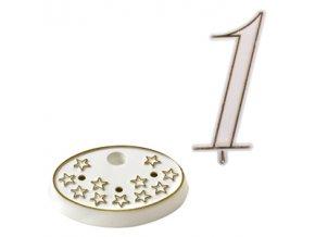 Modecor, Itálie Číslice na dort s podstavcem - 1