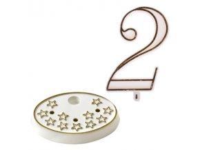Modecor, Itálie Číslice na dort s podstavcem - 2