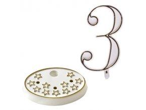 Modecor, Itálie Číslice na dort s podstavcem - 3