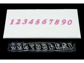 Číslice Windsor Craft - nakloněná