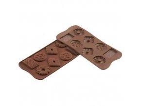 Forma na čokoládu Silikomart - Choco Biscuits
