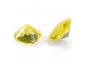 Modecor, Itálie Jedlé diamanty Modecor 20 ks - žluté (Složení Zvlhčovadlo: E422, voda, glukózový sirup, hovězí želatina, regulátor kyselosti: E330, konzervant: E202, barviva: E129 a E122 (mů)