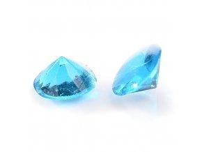 Modecor, Itálie Jedlé diamanty Modecor 20 ks - modré (Složení Zvlhčovadlo: E422, voda, glukózový sirup, hovězí želatina, regulátor kyselosti: E330, konzervant: E202, barviva: E129 a E122 (mů)