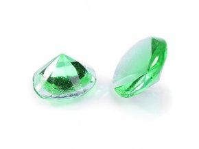 Modecor, Itálie Jedlé diamanty Modecor 20 ks - zelené (Složení Zvlhčovadlo: E422, voda, glukózový sirup, hovězí želatina, regulátor kyselosti: E330, konzervant: E202, barviva: E129 a E122 (mů)