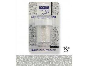 PME, Velká Británie Jedlé glitry PME - bílé (Složení Zvlhčovadlo: E422, voda, glukózový sirup, hovězí želatina, regulátor kyselosti: E330, konzervant: E202, barviva: E129 a E122 (mů)