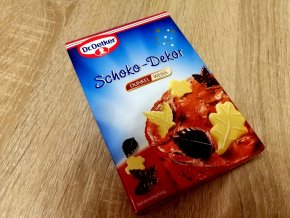 Čokoládové lístečky - filigrány Dr. Oetker - hořké + bílé
