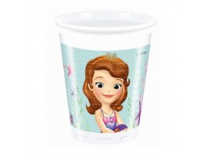 Plastové kelímky Princezna Sofie - Mořská panna 8 ks