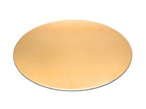 Podložka - zlatý tenký rovný kruh 30 cm