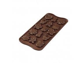 Silikonová forma na čokoládu – vánoční knoflíky