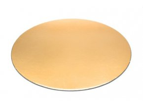 Podložka - zlatý tenký rovný kruh 28 cm