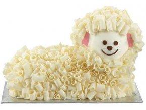 candy curls lamb cake