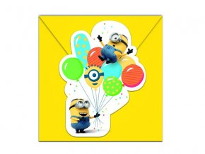 minions balloons party invites