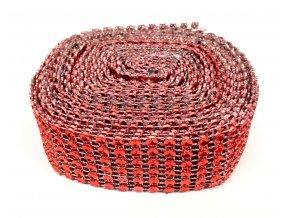 Diamantový pás 3 cm - červený