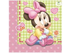 Papírové party ubrousky Baby Minnie 20 ks