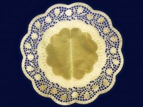 dekorativni krajky kulate zlate prumer 32 cm 4 ks 1842 3
