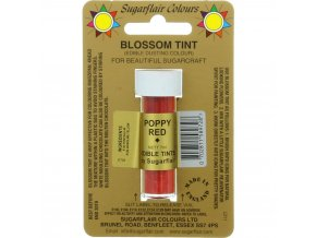 sugarflair colours poppy red blossom tint dusting colour 7ml vial p1787 7261 image