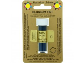 sugarflair colours navy blue blossom tint dusting colour 7ml vial p1803 7356 image