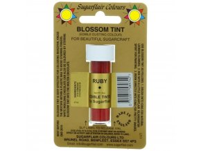 sugarflair blossom tint edible dust food colouring sugarcraft powder colour 7ml ruby p1496 2110 image