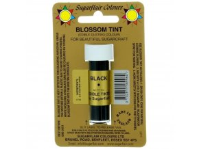 sugarflair blossom tint edible dust food colouring sugarcraft powder colour 7ml black p1528 2142 image