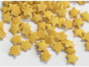 Zlaté třpytivé hvězdičky cukrové zdobení 50g