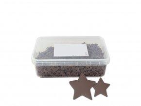 Čokoládové hvězdičky 9-15mm (mléčné) 100g / dóza 250ml