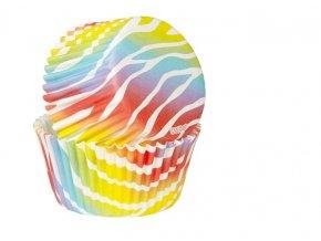 Košíčky Wilton 50 x 32 mm - Rainbow Zebra