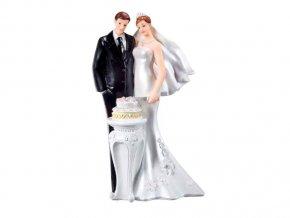 Svatební figurka s dortem