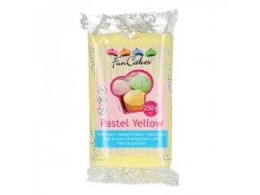 funcakes potahovy fondan pastel yellow zluta 250g