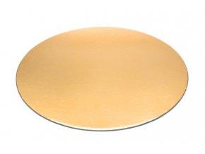 Podložka - zlatý tenký rovný kruh 20 cm