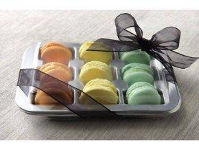 SADA: Krabička na makronky - stříbrná včetně víčka