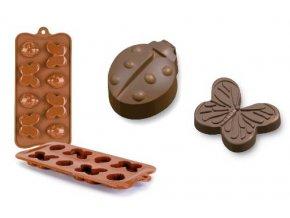 Forma na čokoládu IBILI - motýlci a berušky