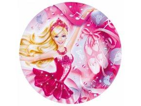 Papírové talíře Barbie 23 cm 6 ks