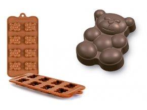 Forma na čokoládu mini Medvídek