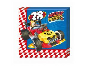 Papírové party ubrousky Mickey Roadster závodník 20 ks