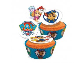 sugar mini disc for cupcake or mini cupcake pow patrol pk 16