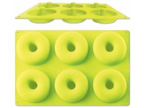 Silikonová pečící forma na 6 donutů