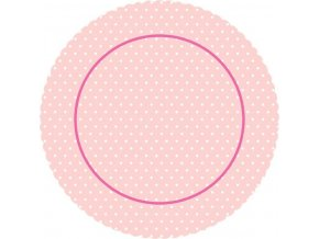 Barevná dortová podložka 27 cm, motiv ROSE CB5 + 5x krajková bílá podložka