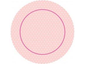 Barevná dortová podložka 27 cm, motiv ROSE CB5  + 5x bílá dortová papírová krajka ZDARMA