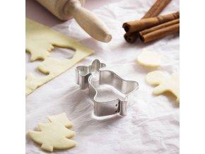 foremka wykrawacz do ciastek i piernikow metalowy dzwonek z kokarda 4 cm