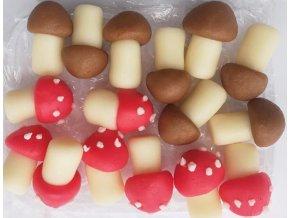 Jedlá dekorace - ručně modelovaná: HŘÍBKY