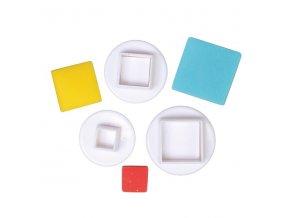 Čtverečky - pístový vypichovač 3 kusy