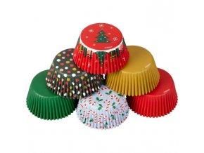 Papírové košíčky na dortíky 150 ks, VÁNOCE