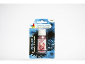 tekuta metalicka barva food colours raspberry cream 18 ml