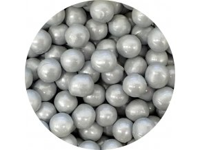 cokoladove perly stribrne 9 mm 200 g