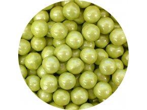 cokoladove perly limetkove zelene 9 mm 200 g