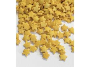 3107 cukrove hvezdicky 10mm zlate 1 kg sacek