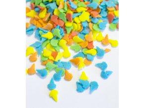 3332 cukrove zmrzlinove kornouty 12mm barevne 1 kg sacek